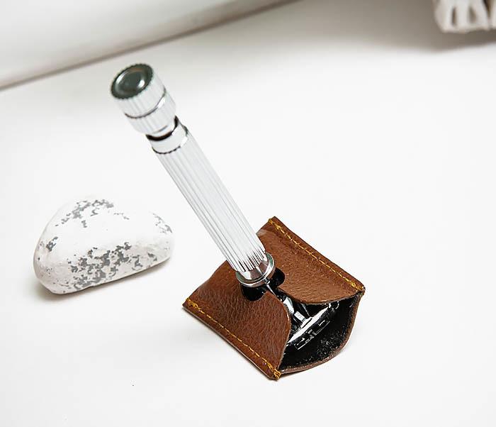 RAZ498-2 Кожаный защитный колпачок для Т образного станка «PARKER» (коричневый) фото 05