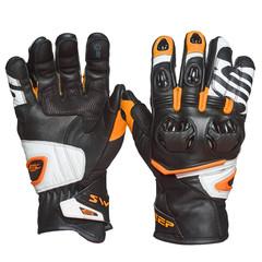 Мотоперчатки кожа Sweep Forza, чёрный/оранжевый