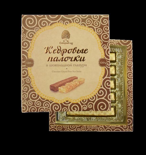 Конфеты Кедровые палочки в шоколадной глазури 120 г