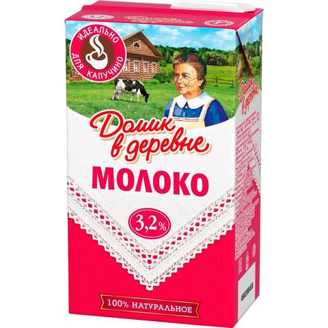 Молоко Домик в деревне для капучино ультрапастеризованное 3.2% 950 г