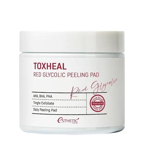 Esthetic House Пилинг-подушечки гликолевые Toxheal Red Glyucolic Peeling Pad, 100 шт