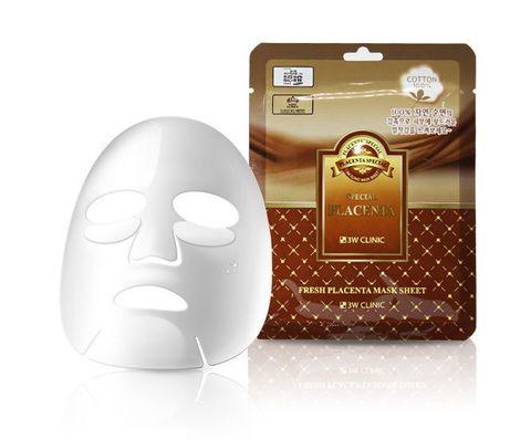 Тканевая маска для лица ПЛАЦЕНТА Fresh Placenta Mask Sheet, 3W CLINIC