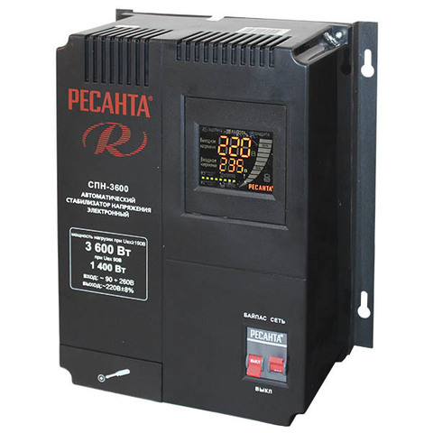 Стабилизатор напряжения Ресанта СПН 3600 Вт