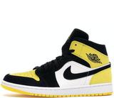 Кроссовки Nike Air Jordan 1 Retro Low Yellow\Black