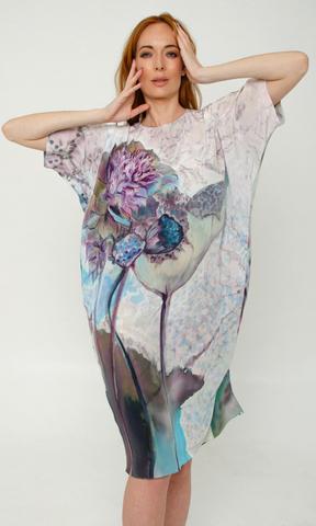 Шелковое платье Арти-шок