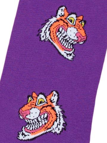 Носки Тигр фиолетовый