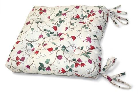 Подушка на стул Лаура красный