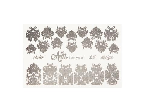 Фольга для дизайна ногтей серебро 26 купить за 120руб