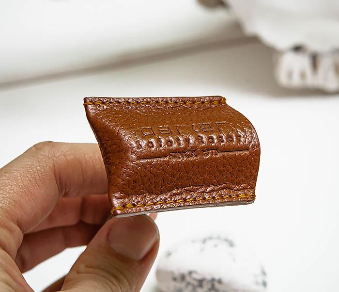 RAZ498-2 Кожаный защитный колпачок для Т образного станка «PARKER» (коричневый) фото 06