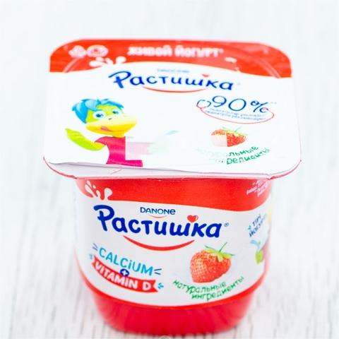 Йогурт РАСТИШКА Клубника 3% 4*100 г Danone КАЗАХСТАН