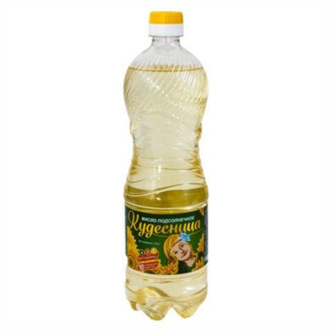 Масло подсолнечное КУДЕСНИЦА 0,875 л КАЗАХСТАН