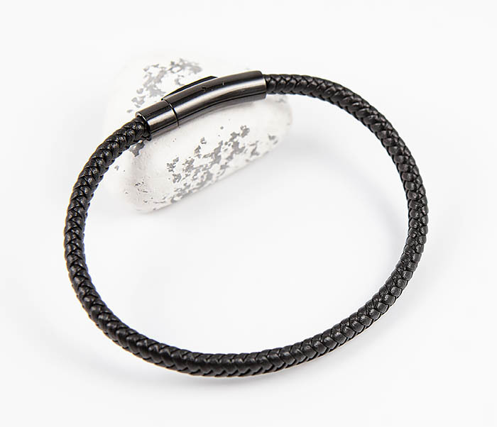 BM529-1 Тонкий мужской браслет из плетеного шнура фото 07