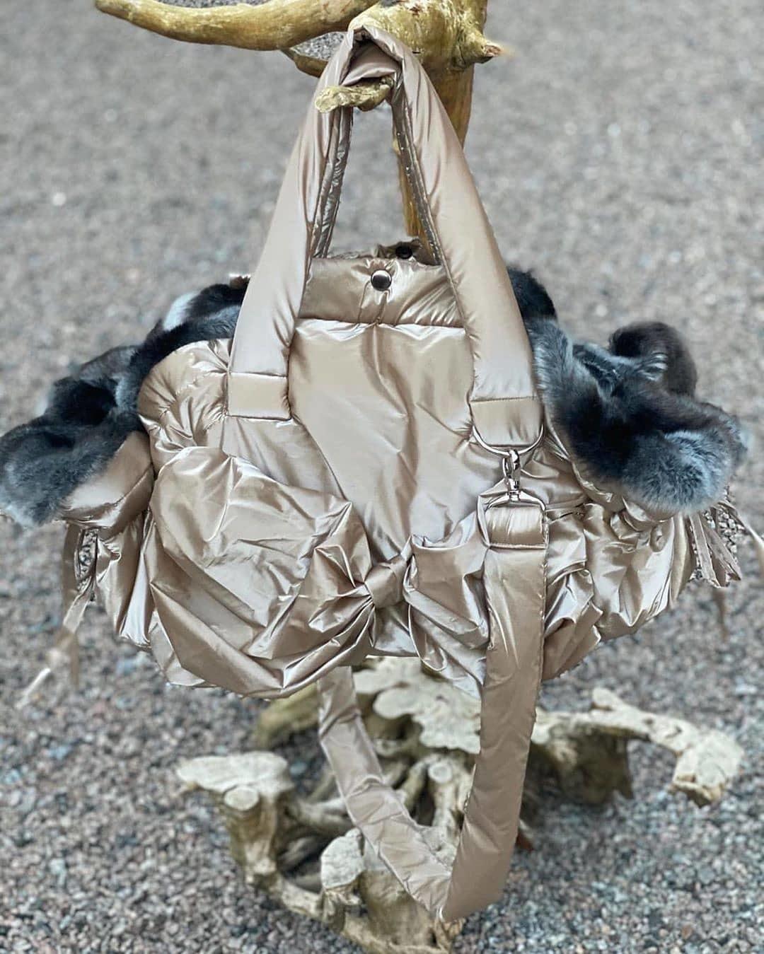 1908 сумка для собак шиншилла золото