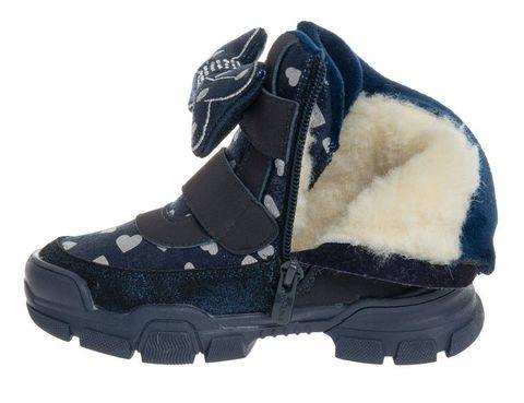 Ботинки зимние синие с бантиком (27-32) Сказка (ТОК Урал)