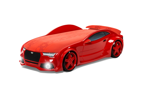 Объемная (3d) кровать-машина NEO AUDI красная