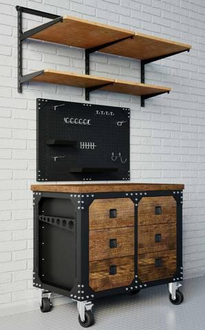 Инструментальная тумба Loft Garage с 6 ящиками