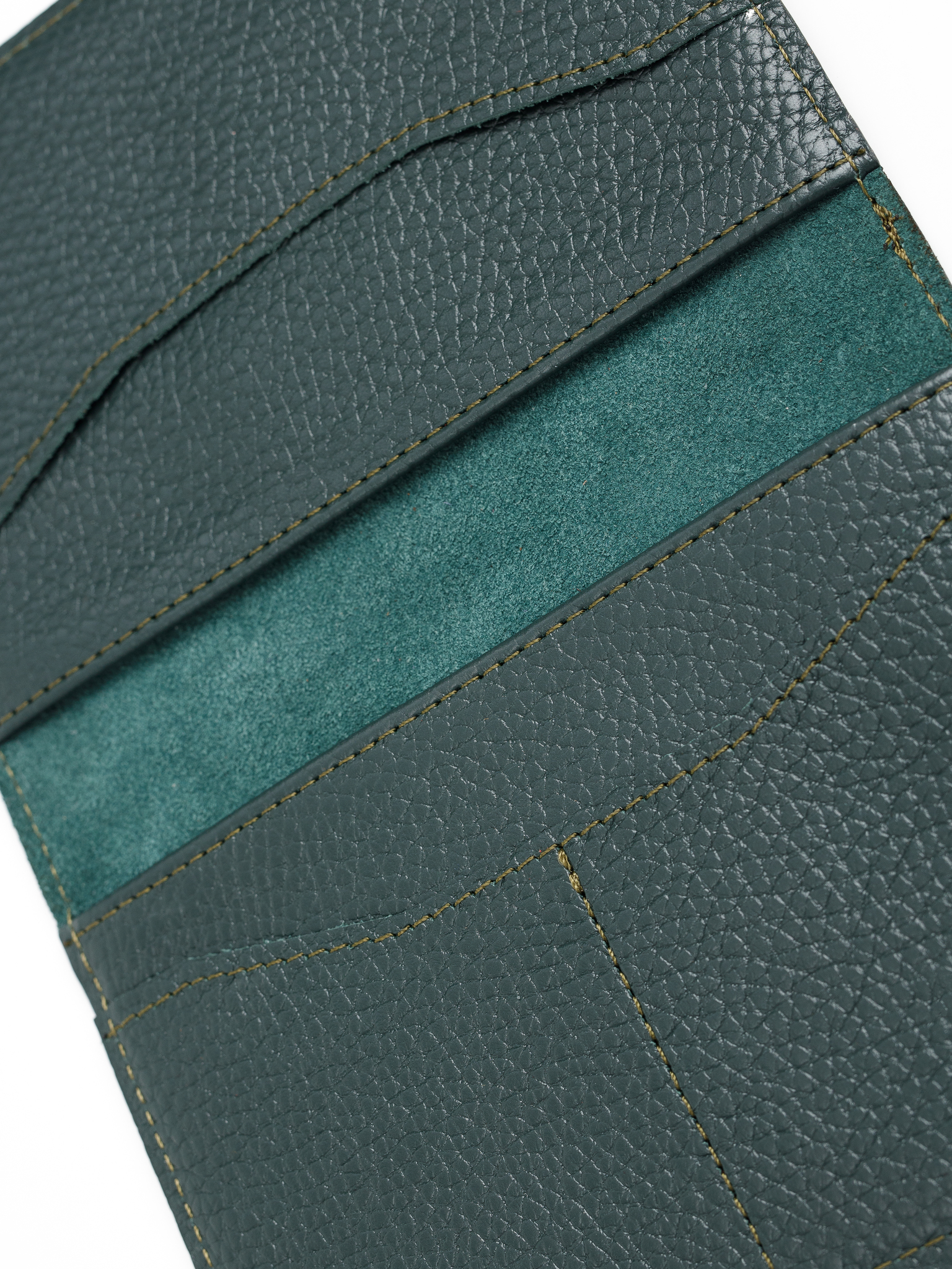 Обложка для паспорта с карманами | Зелёный