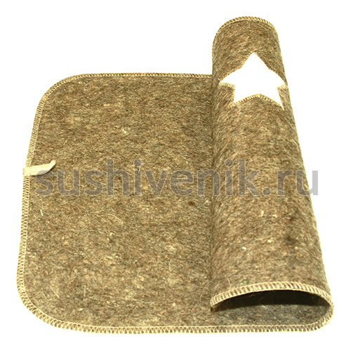 Войлочный коврик Знамя (серый)