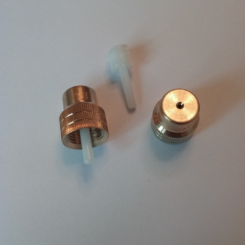 MESTO Форсунка 1305 латунный корпус, сечение 2,5 факельный распыл, с завихрителем