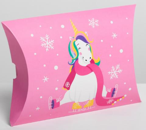 060-0115 Коробка сборная фигурная «Нежный новый год», 19 × 14 × 4 см