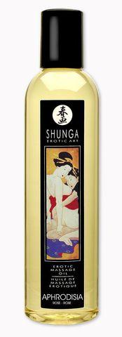 Массажное масло с ароматом розы Shunga Aphrodisia - 250 мл.