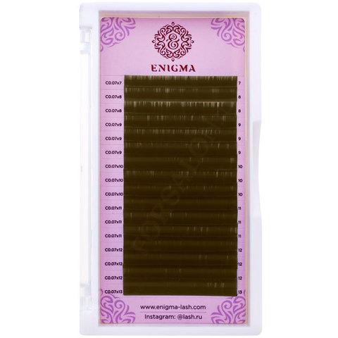 Черные ресницы Enigma 0,07/D/7 mm (16 линий)