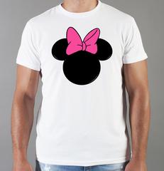 Футболка с принтом Минни Маус (Minnie Mouse) белая 004