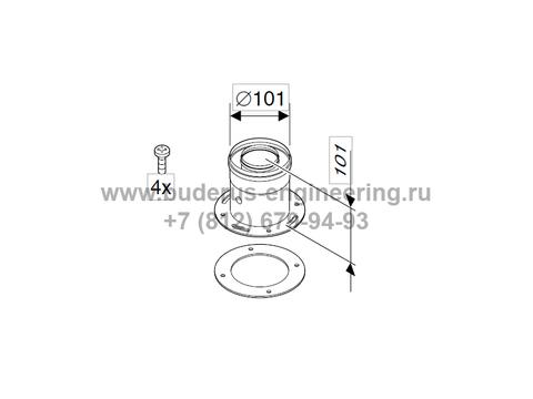 Вертикальное подключение DN60/100 к котлу для Buderus Logamax U072