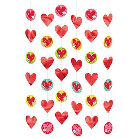 Гирлянда вертикальная Сердца Лица, 210см