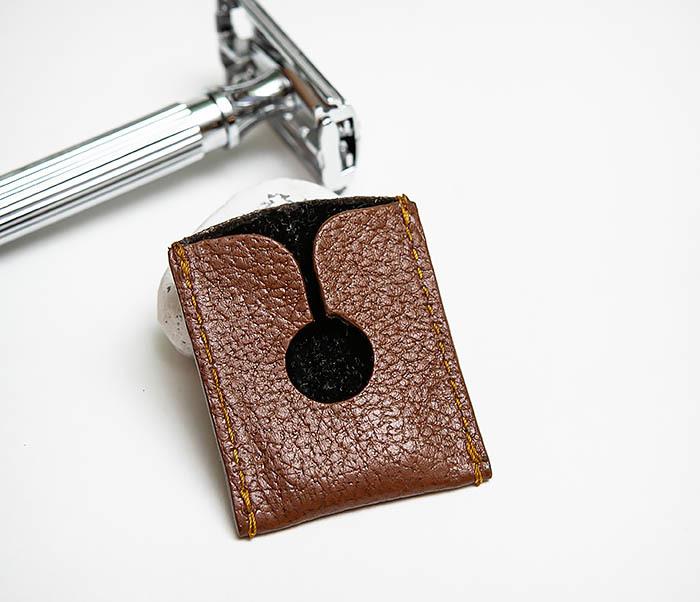 RAZ498-2 Кожаный защитный колпачок для Т образного станка «PARKER» (коричневый) фото 08