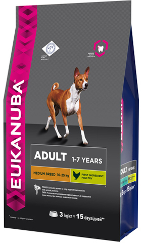 Сухой корм Eukanuba Adult Medium Breed
