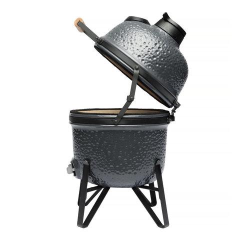 Компактный керамический уличный гриль 41*36*57см (серый)