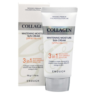 Линия ухода Солнцезащитный крем с коллагеном 3 в 1, ENOUGH, Collagen Whitening Moisture Sun Cream 3 in 1 SPF50+ PA+++, 30 мл enough_3in1_whitening_moisture_sun.jpg