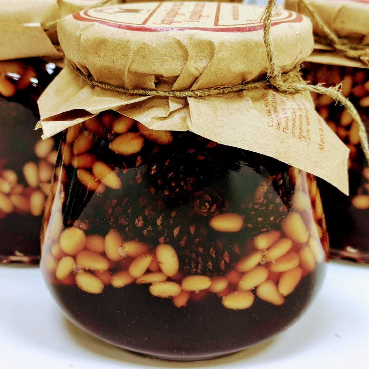 Кедровые шишки и орехи в кедровом сиропе, 330г I 2coffeemaniacs.ru