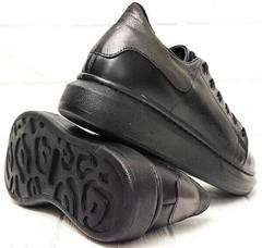 Стильные черные кроссовки с черной подошвой женские EVA collection 0721 All Black.