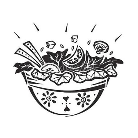 Салат овочі гриль з куркою