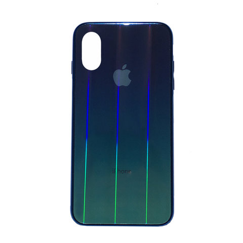 Чехол iPhone XS MAX Glass Shine Case Logo /black/