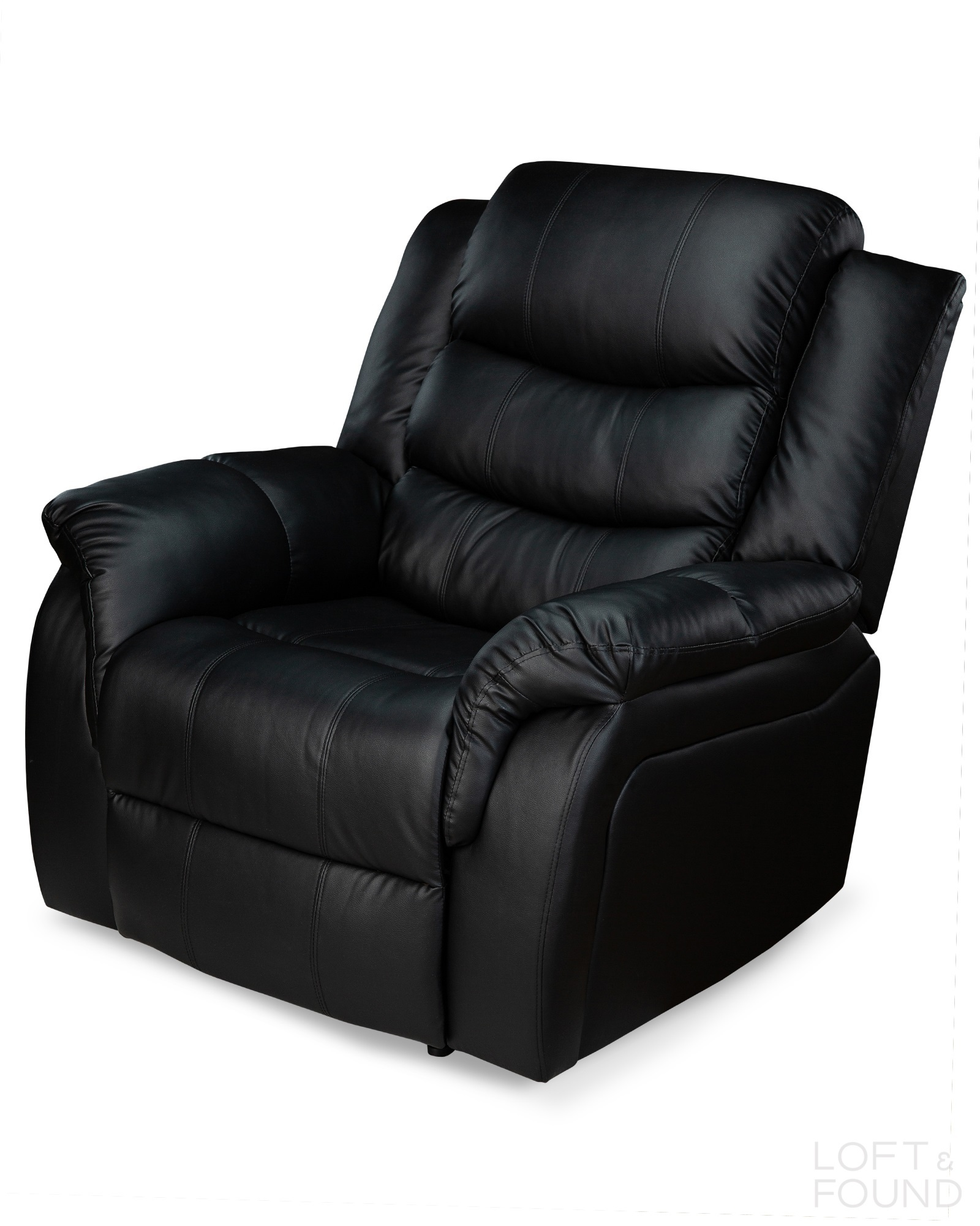 Кресло реклайнер черное
