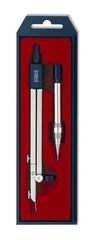 Циркуль металлический с механическим карандашом 9004