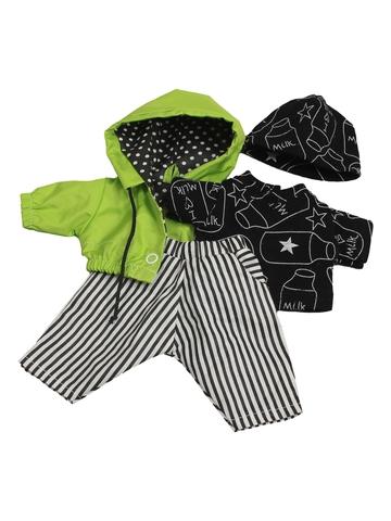 Костюм с курткой - Зеленый. Одежда для кукол, пупсов и мягких игрушек.