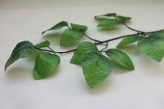 Листья розы на ветке, 15 шт, 45 см.