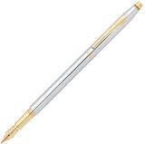 Перьевая ручка Cross Century Classic хром c позолотой 23К Перо M 23Ct (AT0086-75MF)