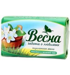 """Мыло"""" Весна"""" жасмин и зеленый чай 90 г"""