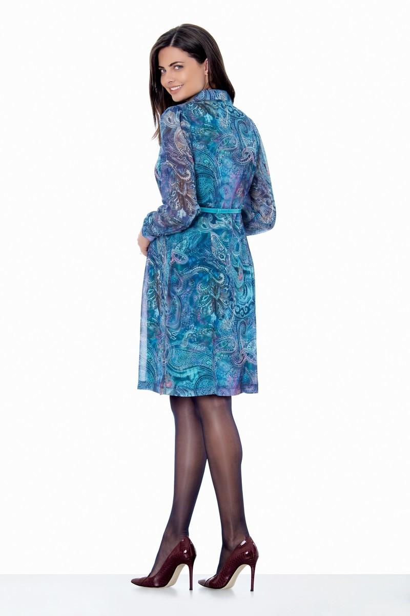 Платье для беременных 05590 бирюзовый