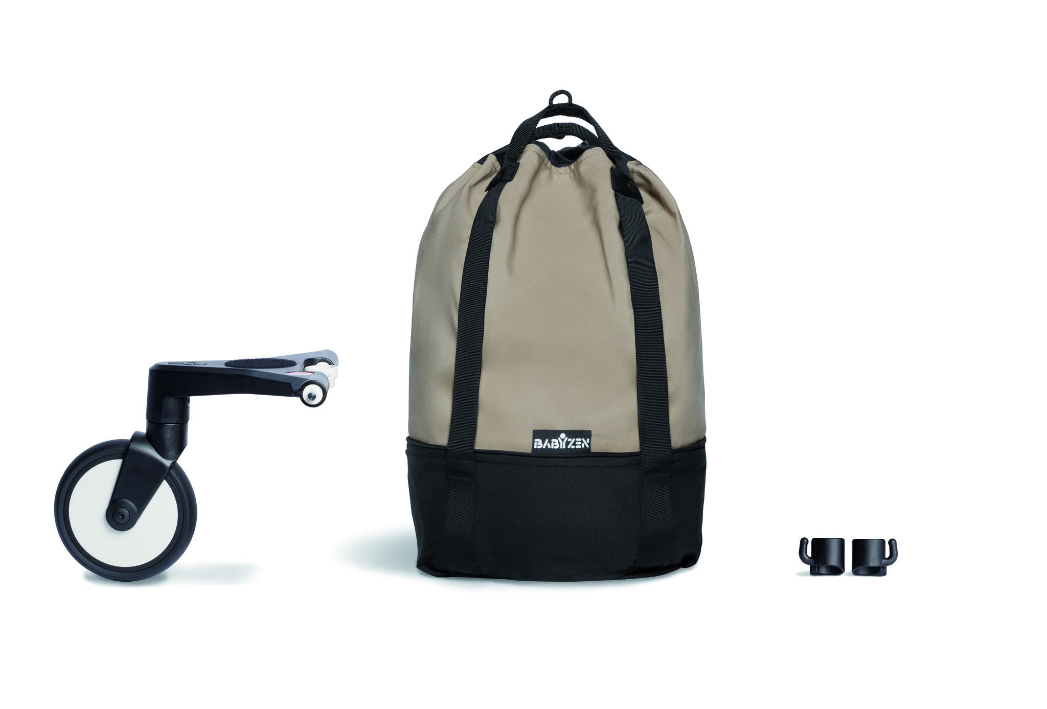 Сумка для коляски BabyZen YOYO+ Bag с колесом платформой Taupe Кротовое