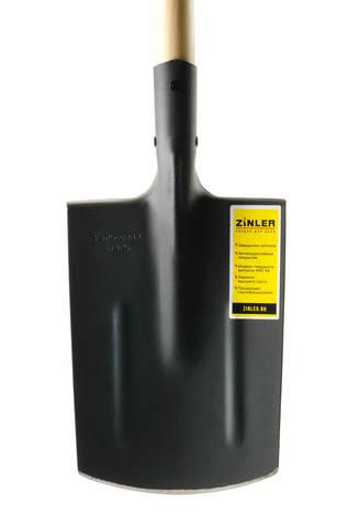 Лопата ZINLER штыковая прямоугольная с деревянным черенком 1200 мм