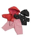 Костюм с курткой - Красный. Одежда для кукол, пупсов и мягких игрушек.