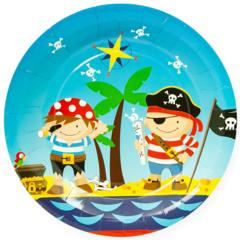 Тарелки (7''/18 см) Пираты, 6 шт.