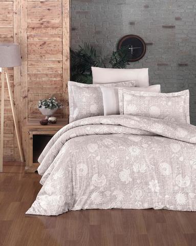 Комплект постельного белья DO&CO Сатин DELUX  LIENZ 2 спальный Евро цвет кремовый