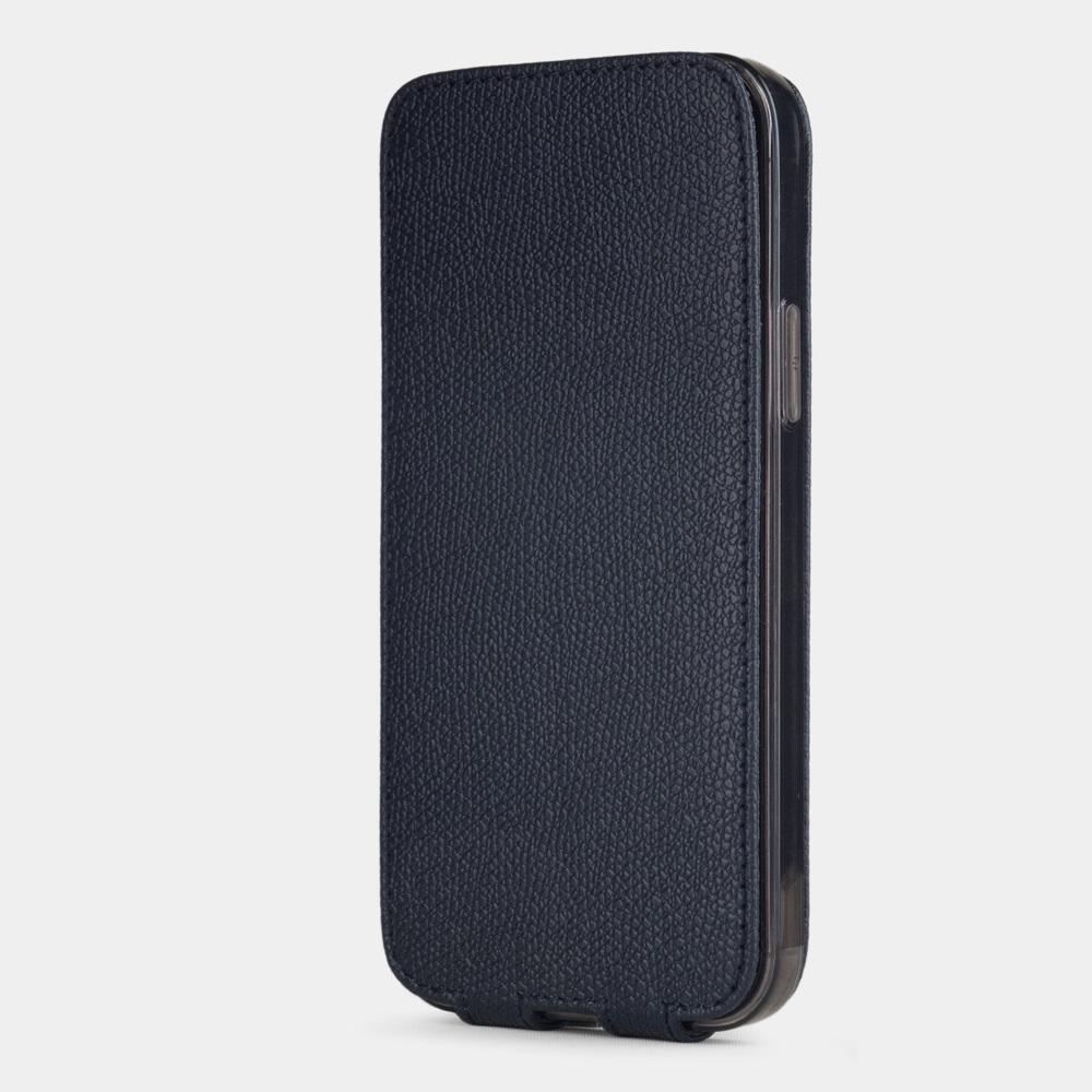 Special order: Чехол для iPhone 12/12Pro из натуральной кожи теленка, синего цвета